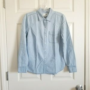 Old Navy Button Down Chambray Top